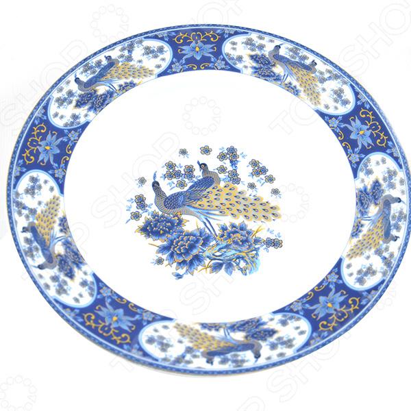 Набор суповых тарелок Elan Gallery Павлин синий красочная посуда с высококачественным покрытием, которая внесет разнообразие в сервировку семейного стола. Станет отличным подарком для любителей стильных вещей. Материал абсолютно безопасен и не вступает в реакцию с продуктами, а так же не влияет на запах и вкус.