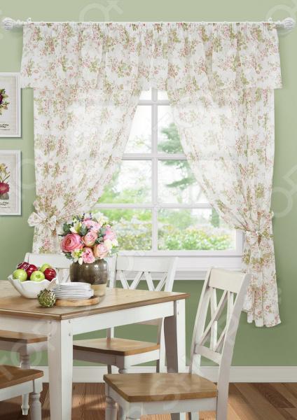 Комплект штор Kauffort La Fleur-S «Розы» шторы kauffort классические шторы rikaro цвет светло бежевый