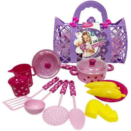 Купить Набор посуды игрушечный 1 Toy «Маленькая хозяюшка» Т11641