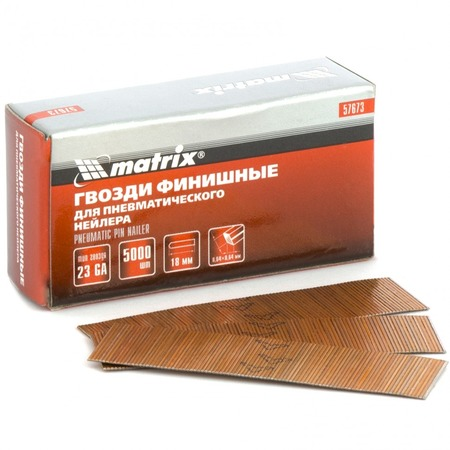 Купить Гвозди финишные для пневматического нейлера MATRIX