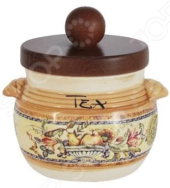 Банка для сыпучих продуктов LCS «Старая Тоскана. Чай» банка для сыпучих продуктов чай lcs старая тоскана lcs670plt ot al