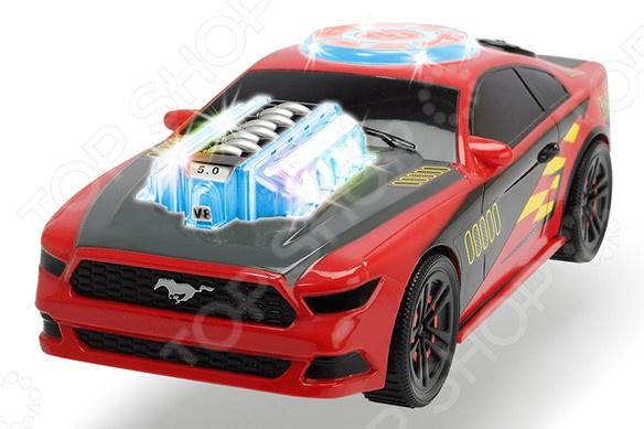 Машинка со светозвуковыми эффектами Dickie «Музыкальный гонщик»