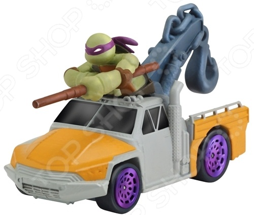 Машинка игрушечная с фигуркой Nickelodeon «Донни на подъемнике»
