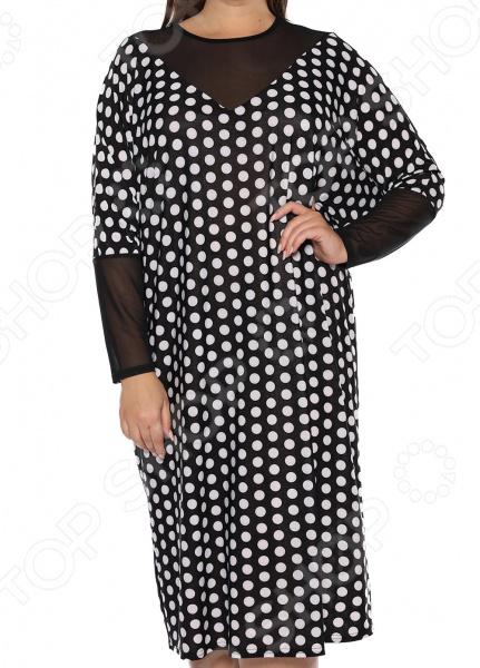 Платье «Лаурель». Цвет: белый, черный платье футболка женское deha из трикотажного хлопка