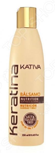 Бальзам укрепляющий с кератином для всех типов волос Kativa kativa бальзам кондиционер keratina для всех типов волос 500 мл