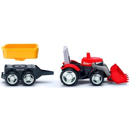 Купить Машинка игровая EFKO «Трактор с прицепным кузовом»