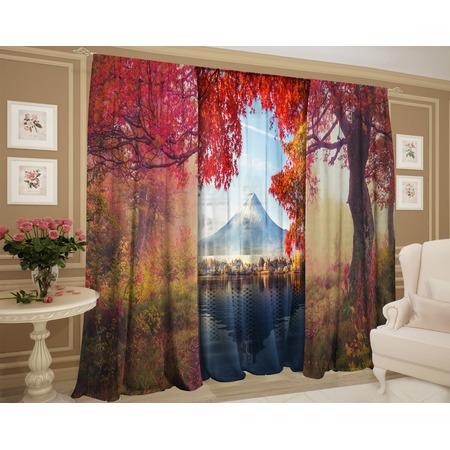 Купить Фотокомплект штор и тюля ТамиТекс «Осенние вершины»