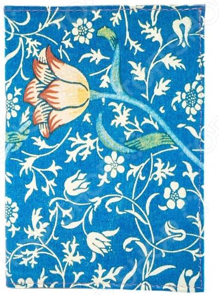 Обложка для паспорта кожаная Mitya Veselkov «Тюльпан на синем» визитницы mitya veselkov визитница тюльпан на синем
