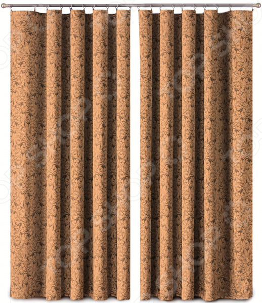 Шторы Primavera Fancy Strokes. Цвет: коричневый