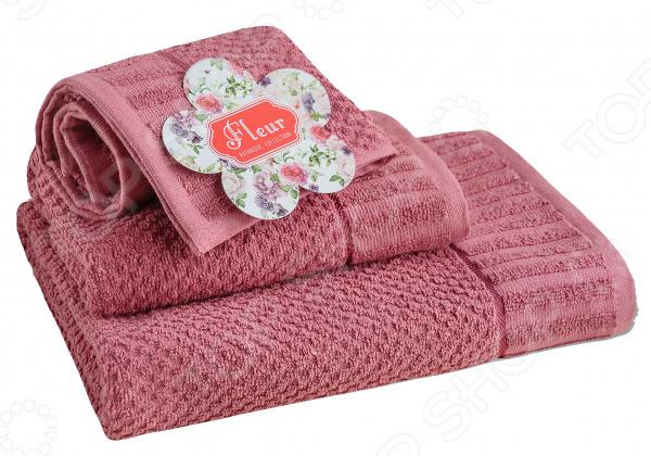 Полотенце махровое Василиса «Флер». Цвет: лиловый