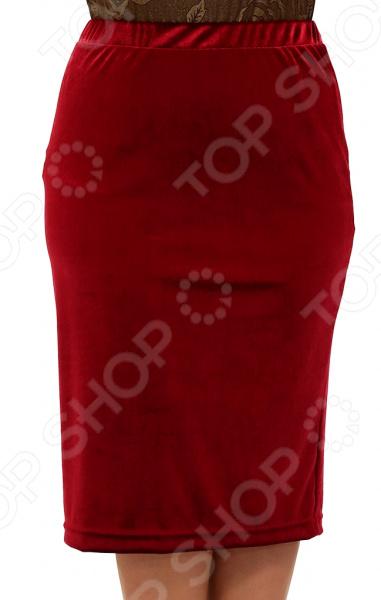 Юбка Лауме-Лайн «Желанная». Цвет: бордовый