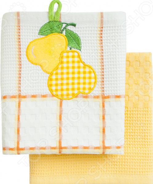 Комплект из 2-х кухонных полотенец BONITA «Груша» ткань для полотенец оптом в москве