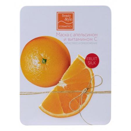 Купить Маска тонизирующая для лица Beauty Style Fruit Silk «Антистресс и омоложение» с апельсином и витамином С