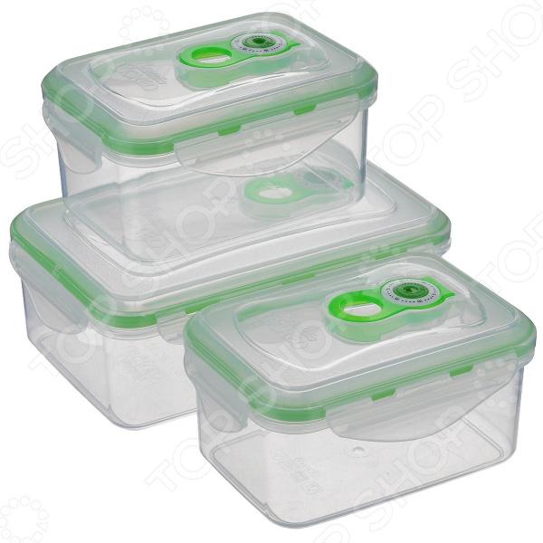 Набор контейнеров для продуктов Wellberg WB-9604. В ассортименте