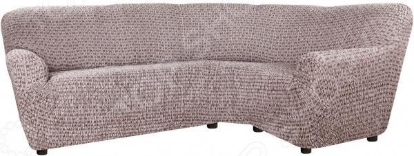 натяжной чехол на угловой диван с выступом слева еврочехол сиена сатурно Натяжной чехол на классический угловой диван Еврочехол «Сиена Сатурно»