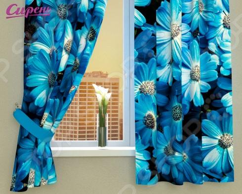 Фотошторы Сирень «Букет из голубых цветов» картины сирень картина ароматный букет