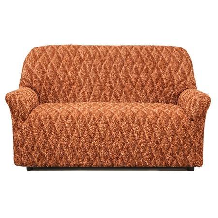 Купить Натяжной чехол на двухместный диван Еврочехол «Виста. Ромбы»