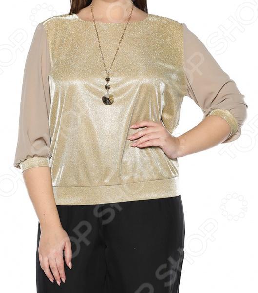 Блуза Blagof «Блестящий стиль». Цвет: золотой блуза blagof блуза мерси цвет персиковый