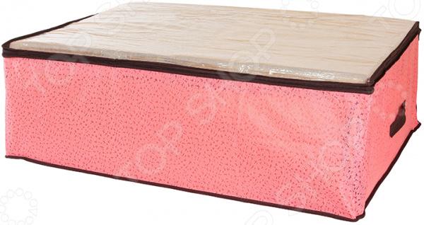 Кофр для хранения одеял и пледов EL Casa «Звезды». Цвет: розовый чехол для одежды el casa звезды подвесной с прозрачной вставкой цвет сиреневый 112 5 х 57 х 17 см