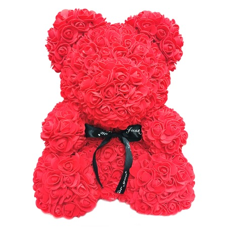 Купить Мишка из роз 3D 40 см