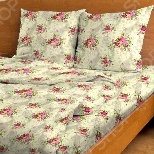 Комплект постельного белья Amore Mio Buketik. 1,5-спальный