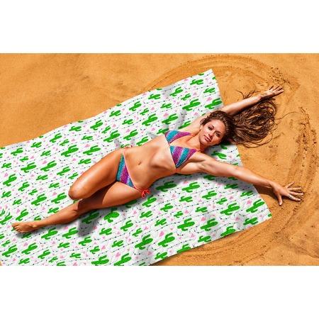Купить Покрывало пляжное Сирень «Влюбленные кактусы»