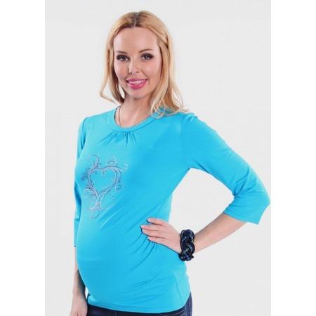 Купить Кофта для беременных Nuova Vita 1313.08. Цвет: бирюзовый