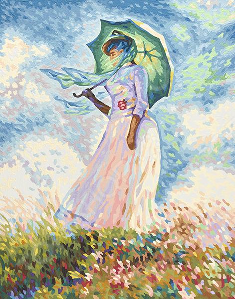 Набор для рисования по номерам Schipper «Дама с зонтиком. Клод Моне»
