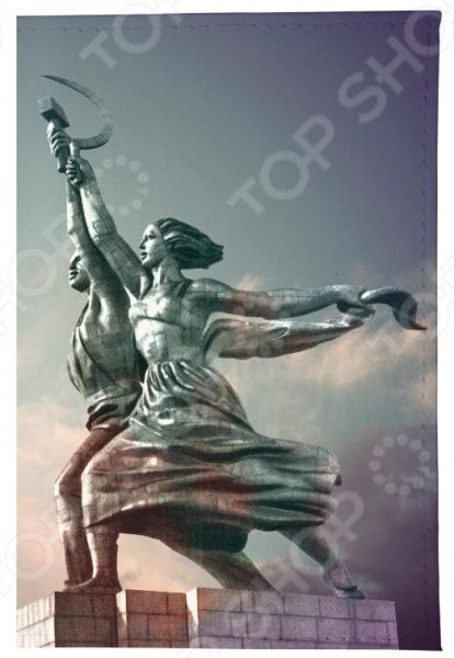 Обложка для паспорта Mitya Veselkov «Рабочий и колхозница»