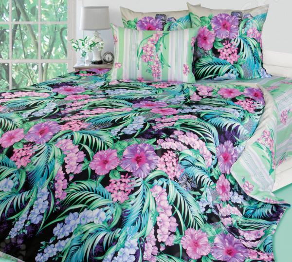 цена Комплект постельного белья Королевское Искушение на молнии «Таинственный остров». Цвет: черный онлайн в 2017 году