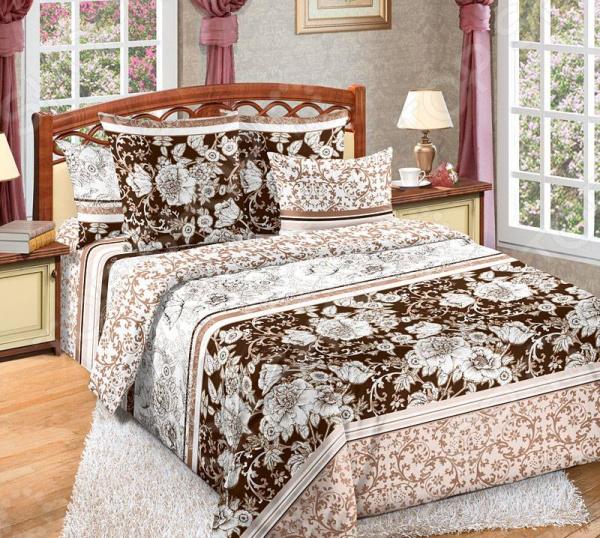 цена Комплект постельного белья Королевское Искушение «Графика». Тип ткани: сатин онлайн в 2017 году