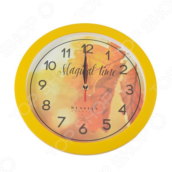 Часы настенные Вега П 1-2/7-279 «Осенние листья» часы настенные вега п 4 14 7 86 новогодние подарки