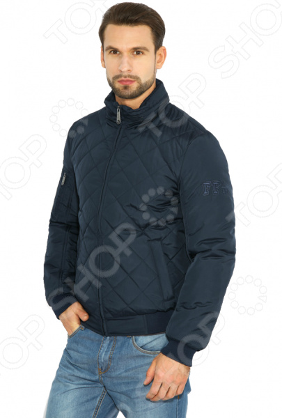 Куртка Finn Flare B17-42003. Цвет: темно-синий