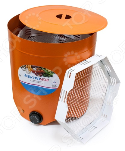 Сушилка для овощей и фруктов Электромаш терммикс 4 поддона с вентилятором красный