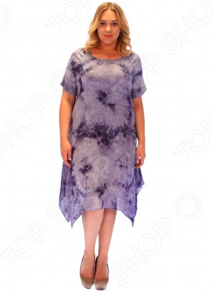 Платье СВМ-ПРИНТ «Армель». Цвет: синий