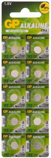Набор батареек-таблеток щелочных GP Batteries 192A набор дисковых батареек gp batteries som01 типы 364 377 392 7 шт