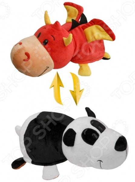 Мягкая игрушка 1 Toy «Вывернушка 2в1: Дракон-Панда» мягкая игрушка toy target панда