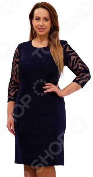 Платье Blagof «Драгоценная женщина». Цвет: темно-синий