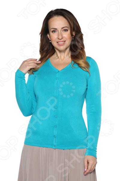 Кардиган Milana Style «Прекрасный вариант». Цвет: бирюзовый кардиган milana style лот 1016 цвет молочный