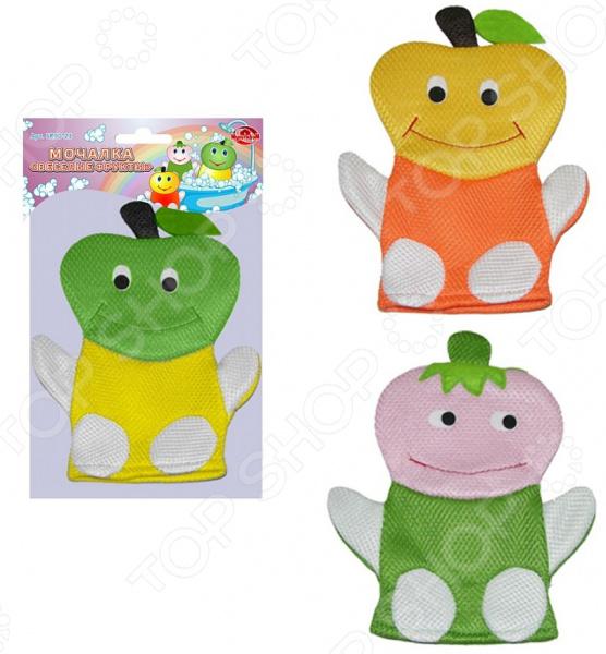 Мочалка-рукавица Мультидом «Веселые фрукты» SR90-21. В ассортименте мочалка рукавица riffi жесткая цвет мятный