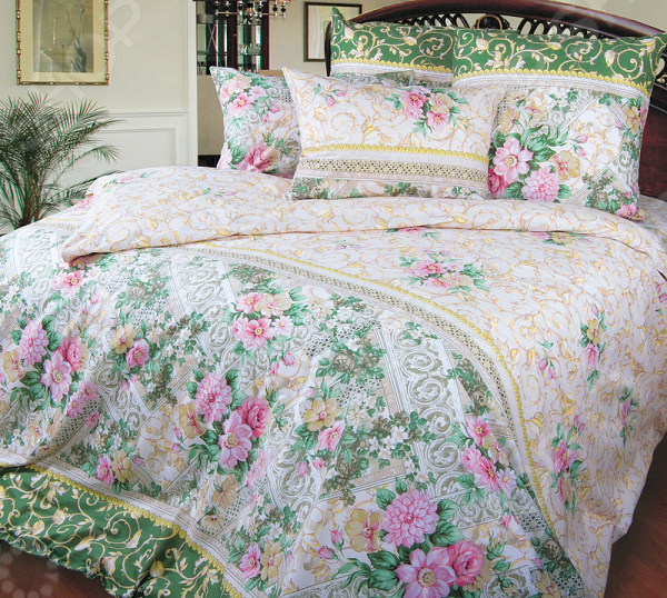 цена Комплект постельного белья Королевское Искушение «Римский дворик». Тип ткани: сатин онлайн в 2017 году