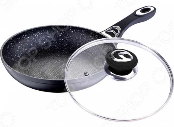 Сковорода с крышкой Wellberg WB-2266-BK
