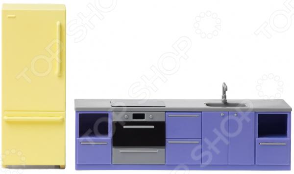 Мебель для куклы Lundby «Базовый набор для кухни» набор мебели для домика lundby базовый набор для спальни
