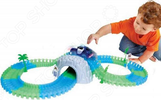 Конструктор - гоночный трек 1 Toy «Большое путешествие» светящийся конструкторы 1 toy формула гоночный джип с турбинами 160 деталей