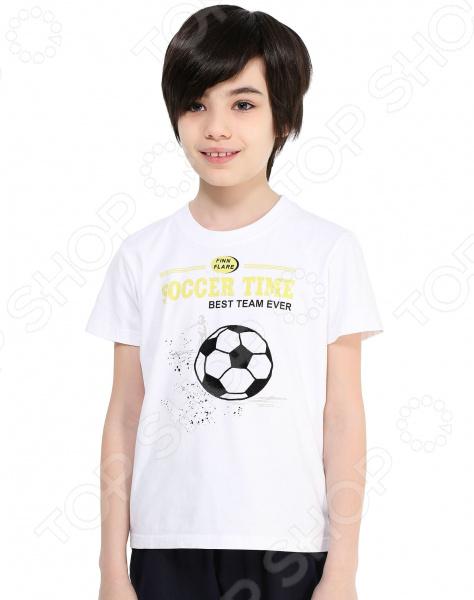 Футболка для мальчика Finn Flare Kids KB17-81033. Цвет: белый