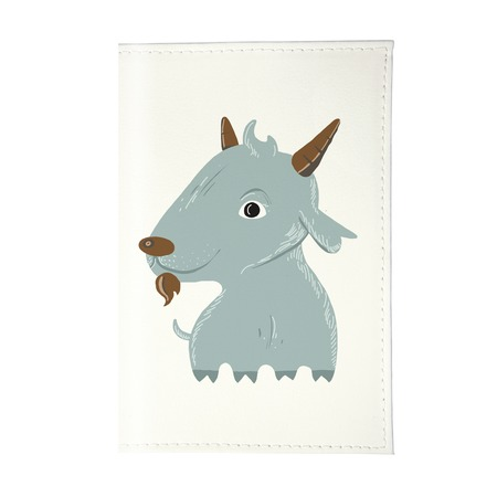 Купить Обложка для паспорта Mitya Veselkov «Голубой козлик»