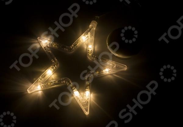 Фигура светодиодная Neon-Night на присоске с подвесом «Звездочка» фигура акриловая светодиодная neon night мухомор 120 led с понижающим трансформатором 35 х 35 см
