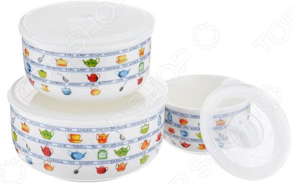 посуда wb Набор салатников с крышкой Wellberg WB-42306