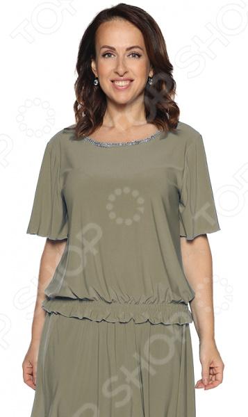 Блуза Pretty Woman «Лови момент». Цвет: оливковый блуза pretty woman руфина цвет красный