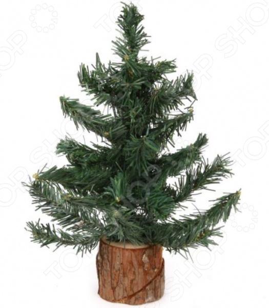 Ель искусственная Новогодняя сказка на деревянной подставке